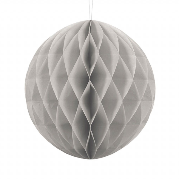 30cm Honeycomb Ball - Grey